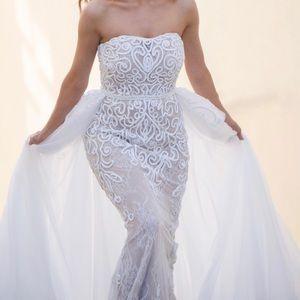 Sherri Herri White Lace Gown